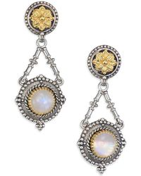 Konstantino - Erato Labradorite, 18k Yellow Gold & Sterling Silver Drop Earrings - Lyst