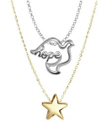 Alex Woo - Sterling Silver Double Pendant Necklace - Lyst