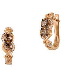 Le Vian - Chocolatier® Woven 14k Strawberry Gold® & Chocolate Diamond® Drop Earrings - Lyst
