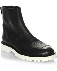 Belstaff - Polish Leather Ankle Boots - Lyst
