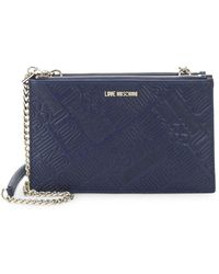 Love Moschino - Embossed Logo Convertible Clutch - Lyst