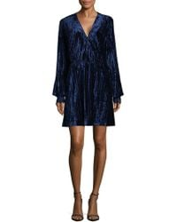 Laundry by Shelli Segal - Pleated Bell Sleeve Dress - Lyst
