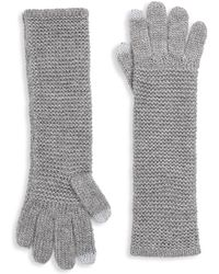 Rebecca Minkoff - Garter Stitch Texting Gloves - Lyst