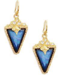 Armenta - Two-tone Gemstone Triangle Drop Earrings - Lyst