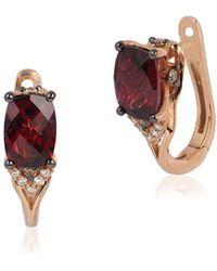 Le Vian - Chocolatier Diamond, Rhodolite & 14k Rose Gold Huggies Earrings - Lyst