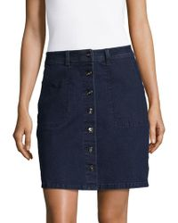 Two By Vince Camuto - Buttoned Denim A-line Skirt - Lyst