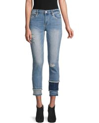 Blank NYC - Distressed Colorblock Skinny Jeans - Lyst