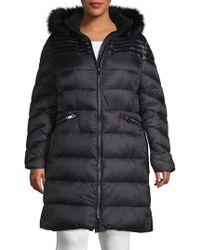 RACHEL Rachel Roy - Plus Faux Fur Trim Puffer Jacket - Lyst