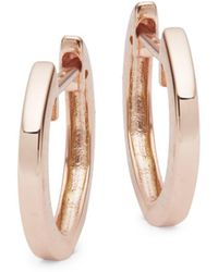 Nephora - 14k Rose Gold Huggie Earrings - Lyst