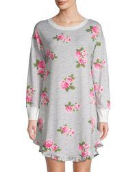 Betsey Johnson - Floral Long-sleeve Sleepshirt - Lyst