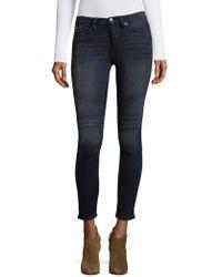 True Religion - Halle Moto Crop Jeans - Lyst