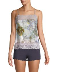 Samantha Chang - Pia Floral Silk Camisole - Lyst