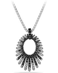 David Yurman - Tempo Pendant Necklace With Black Spinel - Lyst
