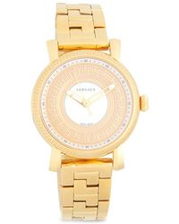 Versace - Stainless Steel Three-link Chain Bracelet Watch - Lyst