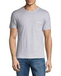 Zadig & Voltaire - Stockholm Raye Striped Cotton Tee - Lyst