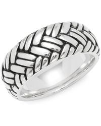 Effy - Sterling Silver Weave Band Ring - Lyst