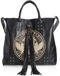 Balmain - Domaine Leather Shopping Bag - Lyst