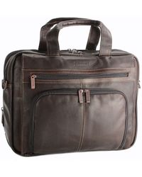 Kenneth Cole - Colombian Leather Expandable 15.4in Computer Portfolio - Lyst