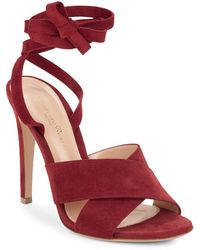 Gianvito Rossi - Crisscross Leather Ankle-strap Sandals - Lyst