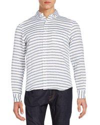Haspel - Constance Striped Cotton Sportshirt - Lyst