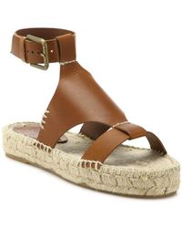 Soludos - Banded Shield Leather Espadrille Sandals - Lyst