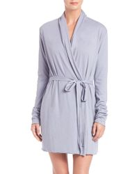 53d3c56d8c Lyst - Cottonista Collection Pima Cotton Jersey Robe in Blue