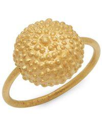 Valentino - Goldtone Ball Pendant Ring - Lyst