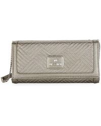 Love Moschino - Shiny Quilted Crossbody Clutch - Lyst
