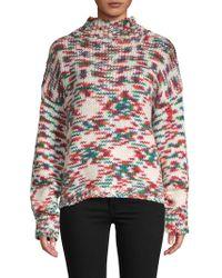 Lea & Viola - Textured Mockneck Sweater - Lyst