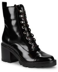 Marc Fisher - Wanya Leather Combat Boots - Lyst