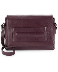 Halston - Medium Leather Shoulder Bag - Lyst