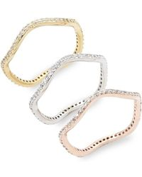 Saks Fifth Avenue | Studded Stackable Rings | Lyst