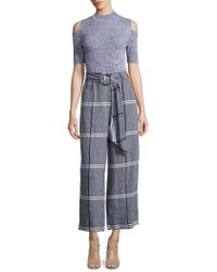 SUNO - Rind Tie Cropped Pants - Lyst