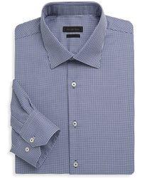 Saks Fifth Avenue - Polka Dots Cotton Dress Shirt - Lyst