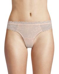 Eberjey - Scalloped Lace Thong - Lyst