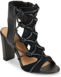 BCBGeneration - Leather Block-heel Sandals - Lyst