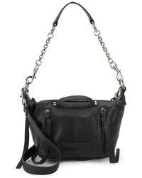 McQ - Textured Leather Shoulder Bag - Lyst