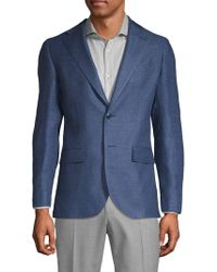 Lubiam - Modern Fit Textured Linen Blend Sport Jacket - Lyst