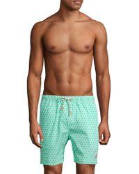 Psycho Bunny - Honeycomb-print Swim Shorts - Lyst
