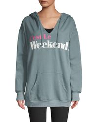 Wildfox - Graphic Hooded Jumper - Lyst