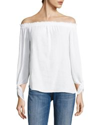 Generation Love - Cynthia Off-the-shoulder Cotton Gauze Top - Lyst