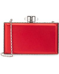 Judith Leiber - Coffered Rectangle Clutch - Lyst