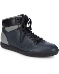Dior - Leather High-top Trainers - Lyst
