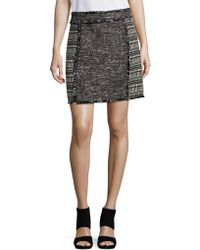 French Connection - Pixel Mix Tweed Skirt - Lyst
