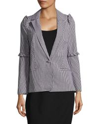 Saks Fifth Avenue - Gingham-check Ruffled Jacket - Lyst