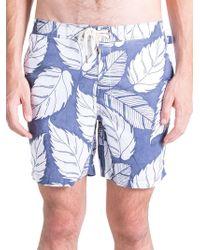 Original Paperbacks - Pool Side Swim Leaf-print Board Shorts - Lyst