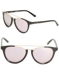 0eb0ff475d Lyst - Ted Baker 49mm Round Tortoiseshell Sunglasses in Black