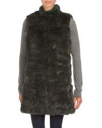 Annabelle New York - Sleeveless Dyed Rabbit Fur Jacket - Lyst