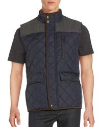 Vince Camuto - Sleeveless Quilted Vest - Lyst