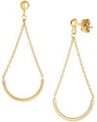 Saks Fifth Avenue - 14k Yellow Gold Dangle Earrings - Lyst